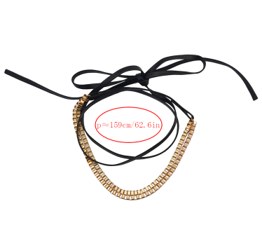 N-6816 New Fashion Bohemian Vintage Gold Statement Necklace Carved Hollow Out Flower Turkish Double Chain Choker Necklaces Women Jewelry