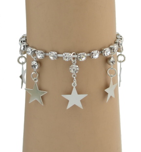 B-0850 Star Shape Gold Silver Plated Bohemian Vintage Style Fashion Chain Coin Shape Tassel Bracelet Adjustable