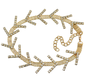 N-6847 Fashion Gold Silver Plated Choker Inlay Crystal Rhinestone Necklaces for Women Jewelry