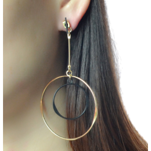 E-4133 New Fashion Gold Silver Color Circle Round Drop Earrings Statement Earring Party Jewelry