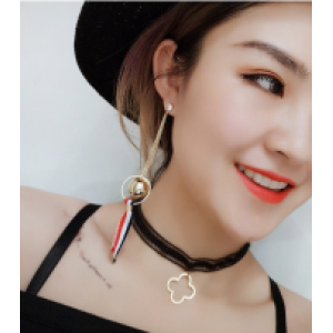 E-4177 Bohemian Round Tassel Beads Pendant Hook Earring With Small Bell for Women Jewelry