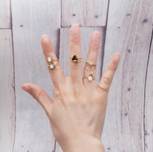 R-1465 5pcs/set Fashion Vintage Gold plated Knuckle Nail Midi Ring for Women Jewelry