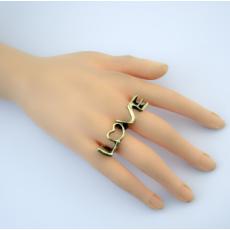 R-0678 Bronze Retro Love Shape Rings for Vintage Women Bohemian Party Jewelry