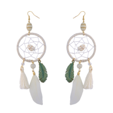 E-4093 Fashion Boho Long Feather Drop Earrings Gold Plated Thread Tassel Party Earring Birthday Gift