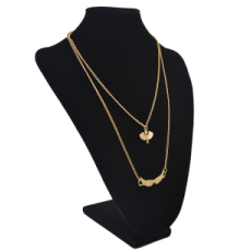 N-5531 Boho Vintage Gold Chains Necklace Wings Anchor Hand Shape Pendants & Necklaces