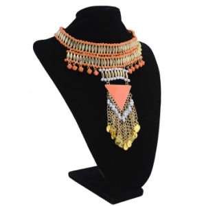 N-6109 Fashion Long Orange Chain Pendant Tassel Drop Necklace For Women Jewelry