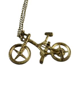 N-2316 Fashion Bike Shape Bronze Drop Dangle Chain Necklace for Women Gift