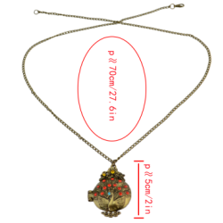 N-3275 New Vintage Long Chain Gem Pendant Necklace For Women
