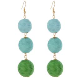 E-4253 4 Styles Fashion Bohemian Bead Ball Dangle Earring for Women Party Accessories