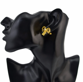 E-1531 Bowknot Horse Shape Earrings  Jewelry for Women