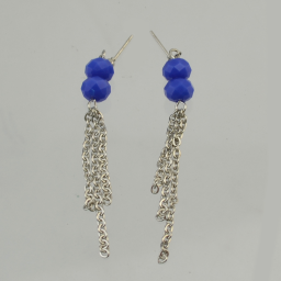 N-5282 New Fashion Alloy Chain Blue Stone Natural Stone Pendant Necklace Earrings Jewelry Set