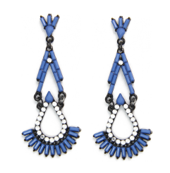 E-3530 New Fashion Triangle Ear jewelry Bead Tassel Pendant Earrings For Women