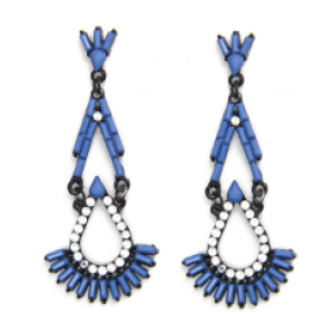 E-3530 New Fashion Triangle Ear jewelry Bead Tassel Pendant Earrings For Women