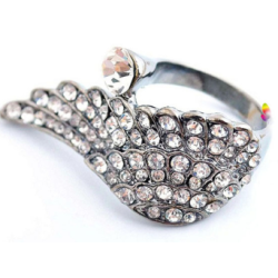 R-1078 New Fashion Round Silver Plated Alloy Ring