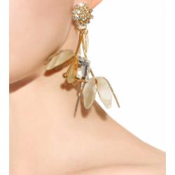 E-4265 Vintage Gold Plated Drop Earrings Crystal Charm Earring for Women Jewelry