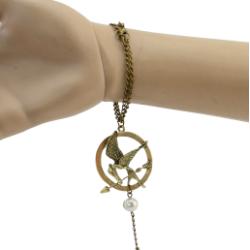 B-0325/0439 Charm Gold Silver Bronze Metal Alloy Chain Bow Hoop Beautiful Bracelet