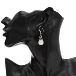 E-4694 Elegant Ladies 4 Color European Korean Crystal Rhinetone Gem Natural  Stone Statement Earrings Drop Earrings for Women