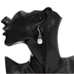 Elegant Ladies 4 Color European Korean Crystal Rhinetone Gem Natural  Stone Statement Earrings Drop Earrings for Women
