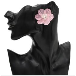 E-4788 Korean Style Fashion Jewelry Crystal Flower Stud Earrings For Women
