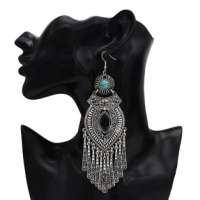 E-5304 Vintage Drop Dangle Earring Zamak Tassel Statement Earring for Women Indian Party Jewelry