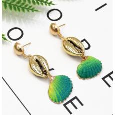 E-5317  5 Color Bohemia Earrings Sea Shell Beach Earrings Drop Dangle Earring for Woman Jewelry