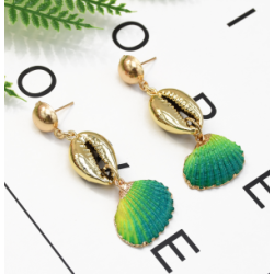E-5317  5 Color Bohemia Earrings Sea Shell Beach Earrings Drop Dangle Earring for Woman Jewelry