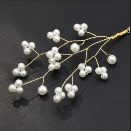 E-5337 Fashion Simple Twig Pearl Beaded Flower Pendant Earrings Jewelry For Women Design