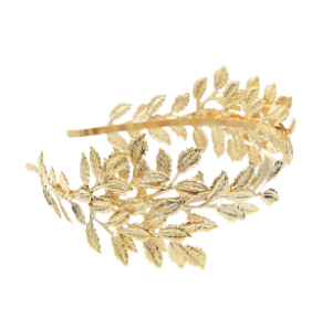 F-0643  2 Color Fashion Gold Plated Alloy Hairband Leaf Shape Bride Headband Hair Jewelry