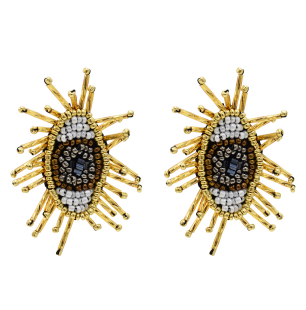 E-5361  Fashion Devil's Eye Small Beads Summer Style Earrings Female Wedding Party Jewelry
