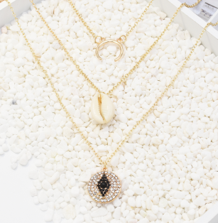 N-7267 2 Styles Multi-layer Sea Shell Pendant Necklaces For Girls Party Summer Women Jewelry