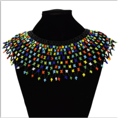 N-7307 Beads Choker Necklace For Women Boho vintage Female Collar Shoulder Chain Collares African Jewelry