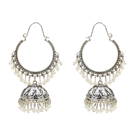 E-5506 Classic Big Bells Pendant Indian Earrings Women Bohemia Ethnic Metal Geometric Drop Earring