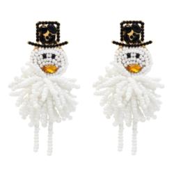 E-5545 Handmade Snowman Earrings For Women Fashion Statement Earrings  Christmas Gift