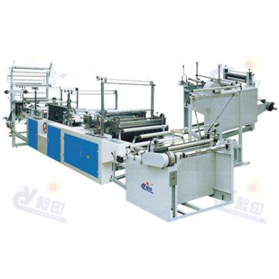 Machine de fabrication de sac à enroulement continu et à corde transversant de série RLD