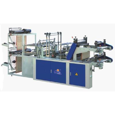 Machine informatique de fabrication de sacs de type gilet et de bouche plate à enroulement continu de SHXJ-A