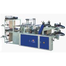 SHXJ-A Máquina productora de bolsas de camiseta y planas en rollos de dos pisos