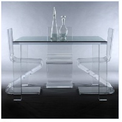 Acrylic table and  chair