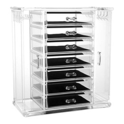 acrylic display drawers with two side doors