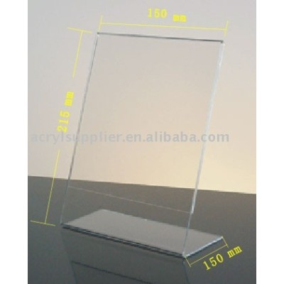 Acrylic L- Shape Menu Holder