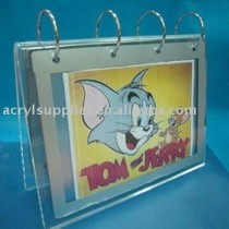 Acrylic calendar display holder