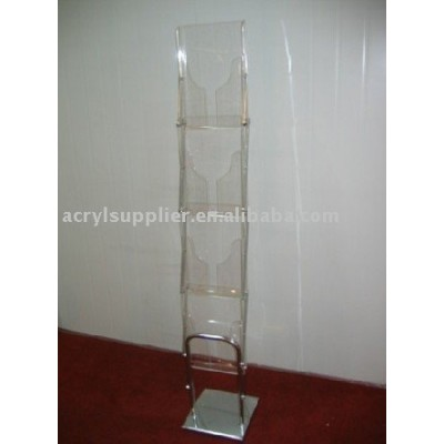 acrylic magezine brochure holder display