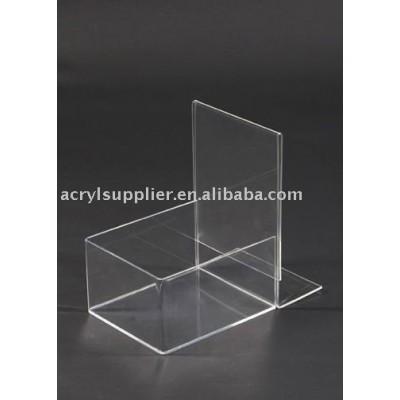 Acrylic Sign Holder and Bin