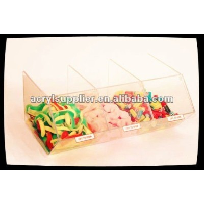 Clear acrylic dispenser for wrapped sweets