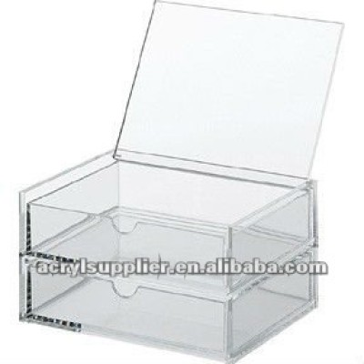 arcylic clear box with two layers