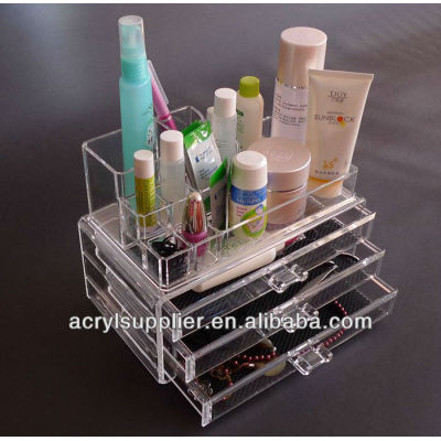 Acrylic comsetic organizer Make up Box with Drawer