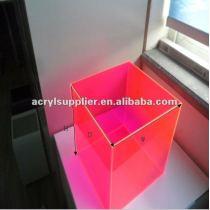 Acrylic Plexiglass Display Case/5 Sides Acrylic Display Box with polished edges