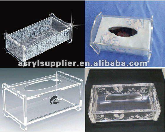 acrylic boutique tissue box