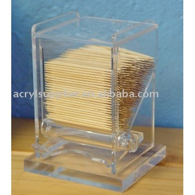 acrylic toothpick holder