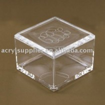 transparent acrylic display cube box for supermaket