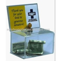 acrylic charity box